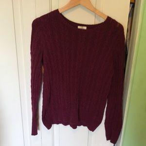 Burgundy Long Sleeve Sweater
